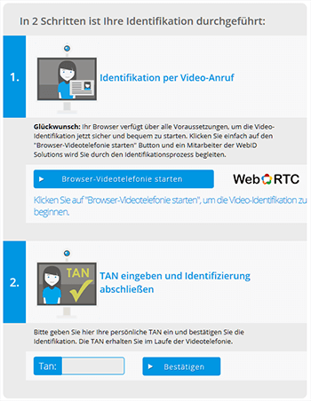 Video-Identifikation bei webid solutions